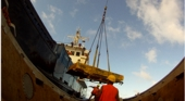 Pitcairn Island, Big Flower - Unloading supplies on a good day