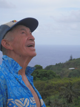 Pitcairn Island, Big Flower - Reynold Pondering the Moment