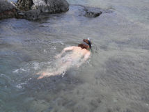Swimming on Pitcairn Island