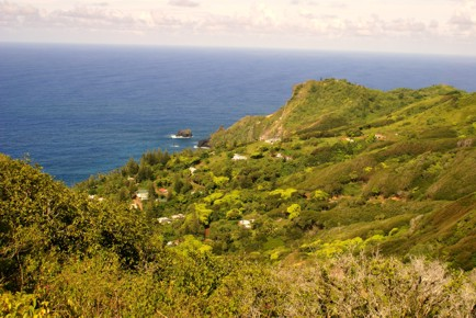 Which piece of land on Pitcairn Island?